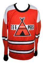 Custom Name # St Catharines Teepees Retro Hockey Jersey Mikita Orange Any Size image 3