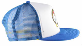 LRG Lifted House of Research Smoking Rooster Blue White Baseball Snapback Hat image 3