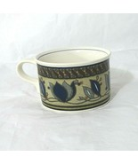 "Vtg Mikasa Intaglio Cac01 Arabella Tulip Jumbo Cup Mug 2.25"" Blue Green ... - $9.89"