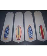 CUSTOM TROPICAL SURFER SURF BOARD SURFBOARD CEILING FAN with LIGHT - $98.90