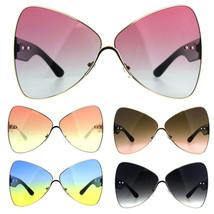 Oversize Diva Oceanic Lens Oversize Butterfly Bat Shape Sunglasses - $12.95