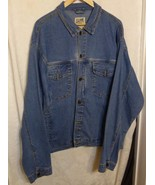 Travel Smith Men's Denim Jacket Sz XL With Security Pockets Made in Hog ... - $38.98