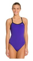 Nike Womens Poly Core Solid Classic Lingerie Swimsuit Grape Ice 38/WMS12... - $42.74