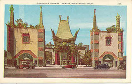 Hollywood Graumans Chinese Theatre Post Card  - $5.00