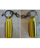62376 single legacy tassel keyfob lemon yellow front back thumbtall