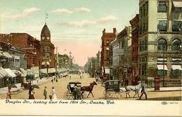 Douglas Street Omaha Nebraska circa 1900 Vintage Post Card - $6.00