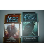 A Game of Thrones chapter pack lot of 2 a journeys end calling of the ba... - $10.98