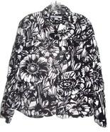Plus Size XL/0X/1X - Croft & Barrow Black & White Thick Linen Blend Shirt - $28.49