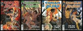 Conan Red Sonja Comic Set 1-2-3-4 Lot Robert E Howard REH Barbarian Pano... - $50.00