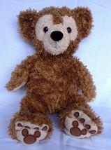 WALT DISNEY WORLD STUFFED PLUSH DUFFY TEDDY BEAR HIDDEN MICKEY GOLDEN BROWN - $48.95