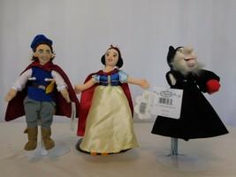 Disney Mini Bean Bag Snow White & Seven Dwarfs Prince Charming, & Witch Lot of 3 - $31.69