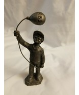 M.A. Ricker Pewter Sculpture - Numbered - 1983 Boy Holding Balloon - $9.85