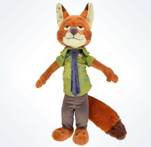 "disney parks nick wilde zootopia 14"" plush toy new with tags - $16.82"