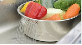 Characin Stainless Steel Dishpan Basin Dish Washing Bowl Portable Tub (D Shape) image 2