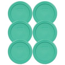 Pyrex 7202-PC 1 Cup Green Round Plastic Replacement Lid - 6 Pack - £10.03 GBP