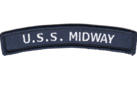 "4"" NAVY USS MIDWAY ROCKER EMBROIDERED PATCH - $23.74"