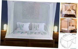 Universal Backpackers Mosquito Net for Single to King-Sized Beds – 2 Sid... - $39.03