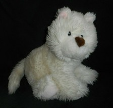 VINTAGE 1993 COMMONWEALTH WHITE DOG BROWN HEART NOSE STUFFED ANIMAL PLUS... - $28.05