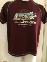 Disney Monde Run Disney 2011 Vin et Dine Demi Marathon Chemise XS Double Sec - $12.85