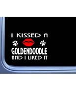 "Goldendoodle Kissed L895 8"" dog window decal sticker - $4.99"