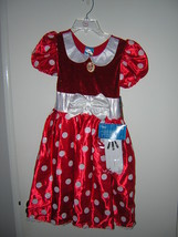 NWT DISNEY STORE MINNIE MOUSE HALLOWEEN COSTUME SZ 2 - 3 - $25.00