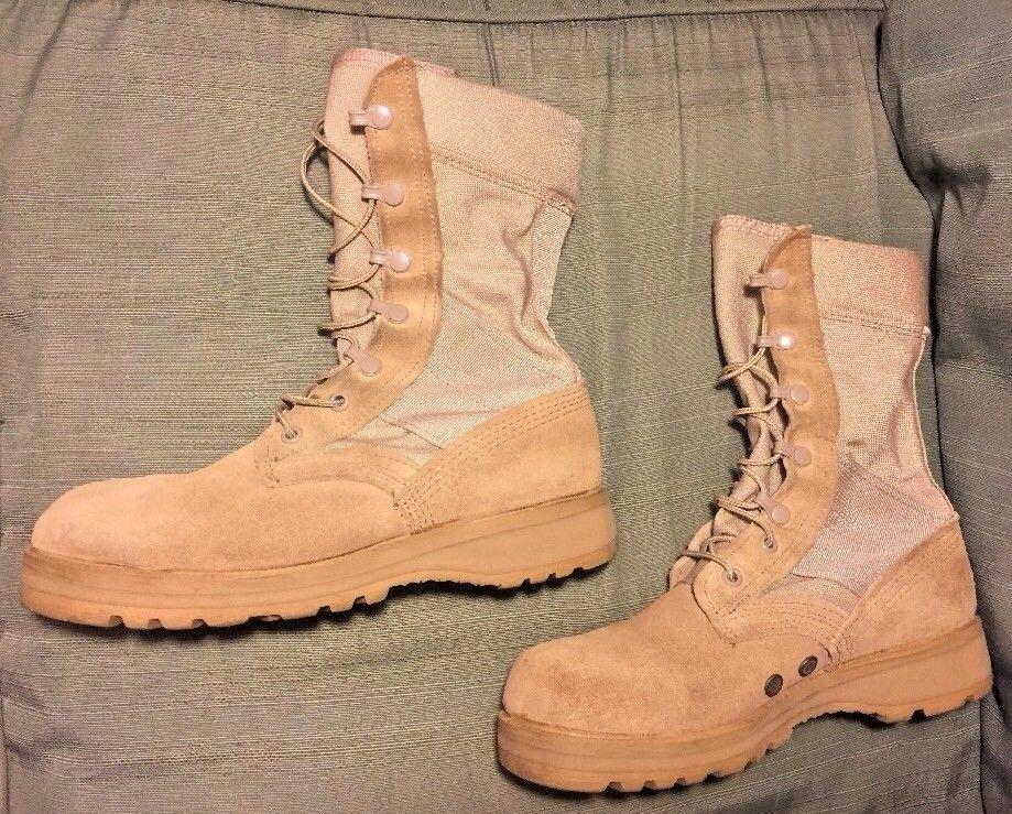 3367343eabb Vibram Army Desert Tan Leather Canvas Boots and 50 similar items