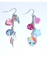 My Little Pony Girl's RAINBOW DASH Mismatched Charms Drop Earrings NWT - $7.47