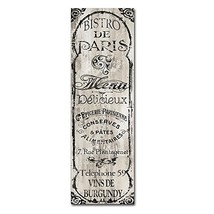 Paris Bistro II by Color Bakery, 10x32-Inch Canvas Wall Art