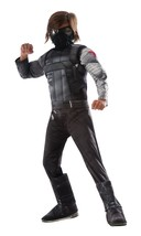 Captain America Civil War Winter Soldier Deluxe Muscle Chest Child Small - $45.49