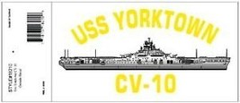 NAVY USS YORKTOWN CV-10 MILITARY WAR SHIP DECAL - $13.53