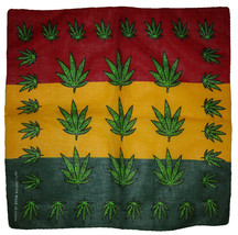 "Wholesale Lot of 3 Multiple Weed Leaf 100% Cotton 22""x22"" Bandana - $9.88"