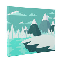 Winter Mountain Landscape CANVAS Wall Art Décor - $28.22