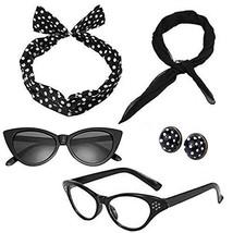 Mengar Women 1950's Costume Accessories Set 50s Scarf, Glasses, Headband... - $13.46