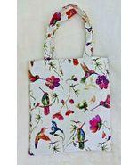 Signare Tapestry Hummingbirds Mini Tote Eco Bag Colorful Pretty Birds & ... - $14.99