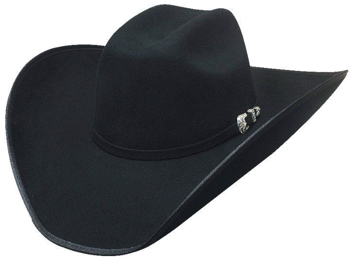 Primary image for Bullhide Boot Hill 8X Beaver Fur Blend Cowboy Hat Maverick Crown Black