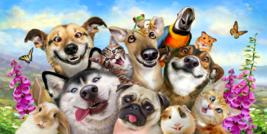 Pet Selfie Cat Dog Hamster Bunny Parrot Pool Bath Beach Souvenir Cotton ... - $21.99