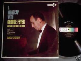 George Feyer A Nightcap LP Decca DL 4625 Cafe Carlyle - $11.59