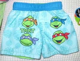 Nickelodeon Teenage Mutant Ninja Turtles Swim Trunks Board Shorts Sz 6-9 M NEW  - $13.86