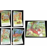 In The Forest Pop Up Book forest animals Luce Lagarde Illustrated - $18.99