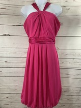 Women's Davids Bridal Bridesmaid Short Pink/magnenta Sz 2 Halter Top She... - $11.30