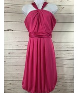 Women's Davids Bridal Bridesmaid Short Pink/magnenta Sz 2 Halter Top She... - $11.30