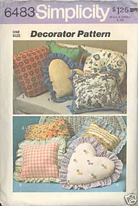 New 1970s Decorator Throw Pillows Simplicity 6483 Vintage Sewing Pattern Simplicity