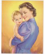 Original Jules Erbit Baby and Lady Print 1940s - $7.50