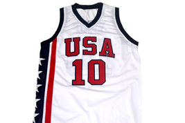 Mike Bibby #10 Team USA Basketball Jersey White Any Size image 4