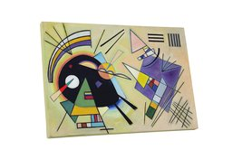 "Pingo World 0617QU5FLEY ""Kandinsky Schwarz And Violet"" Gallery Wrapped Canvas Ar - $43.51"