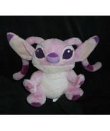 DISNEY PARKS LILO & STITCH BABY PINK ANGEL GIRLFRIEND STUFFED ANIMAL PLU... - $15.99