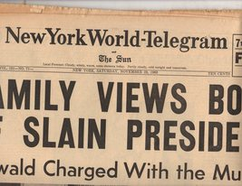 New York World Telegram  & The Sun  Newspaper -11/23/63  November 23, 1963 - $4.90