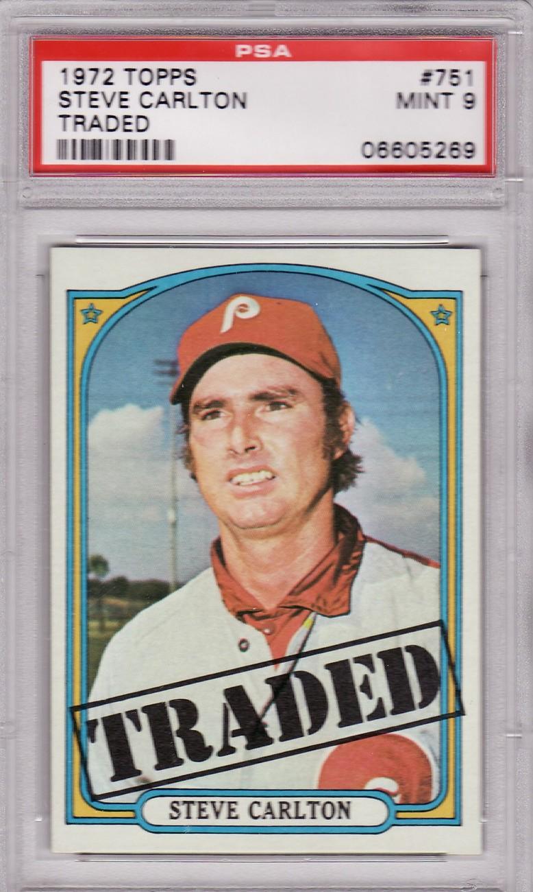 Steve carlton 1972 topps  751 psa 9