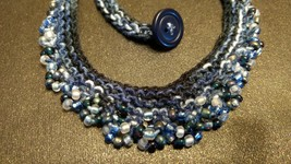 hand knit beaded necklace 107 - $15.00