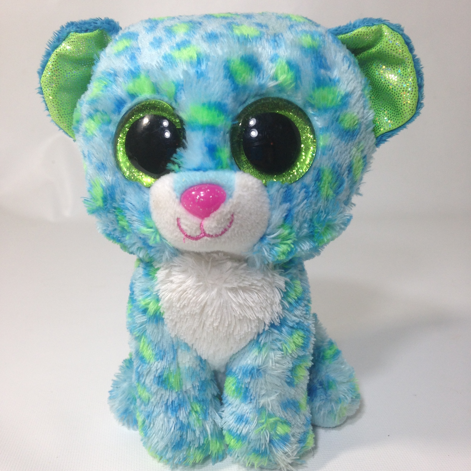 ... 50 similar items. Ty leona leopard cat beanie boos 6 blue green plush  stuffed animal kitten 1 022166d09ea8